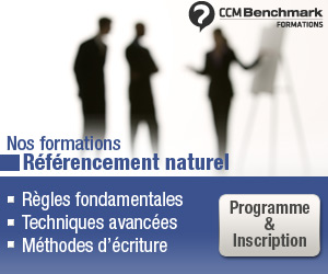 formations référencement naturel SEO benchmark group