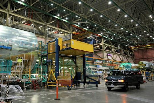 Bladi alg ria1962 visitez l 39 usine boeing de seattle le for Interieur usine