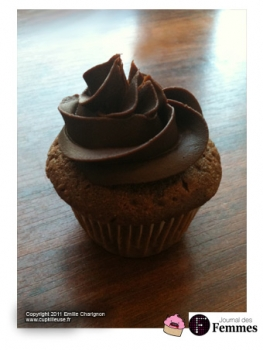 cupcakes au chocolat gla age cr me au beurre au chocolat. Black Bedroom Furniture Sets. Home Design Ideas