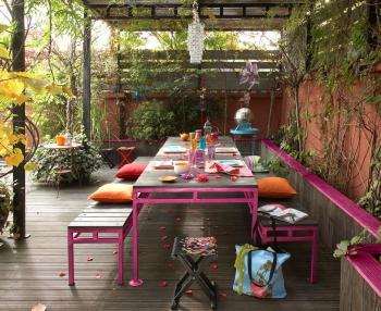 Peinture comment mettre de la couleur au jardin for Au jardin des couleurs