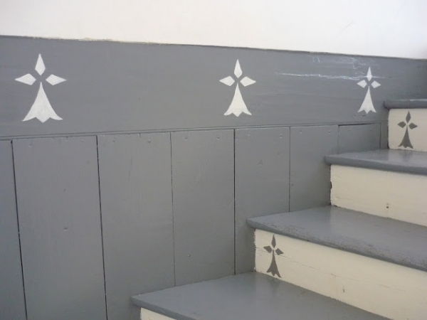 L 39 escalier change de look - Escalier gris et blanc ...