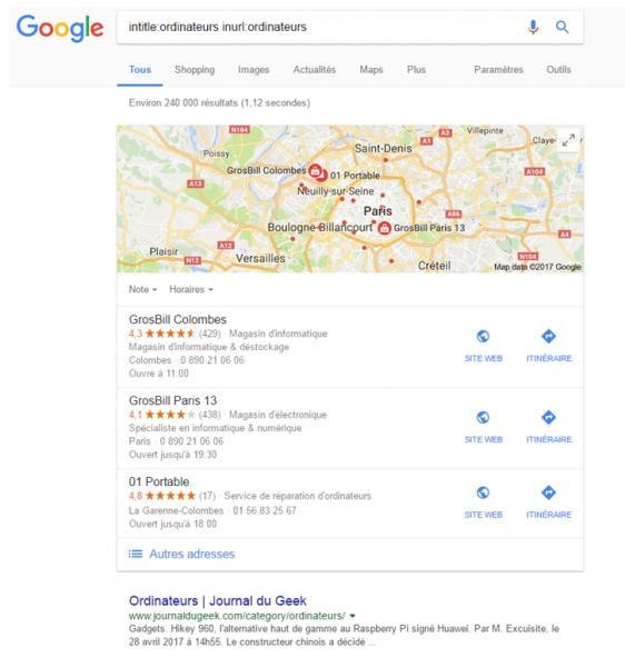 Les opérateurs de recherche Google : la recherche avancée