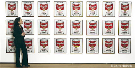 Campbell's soup cans, de Andy Warhol