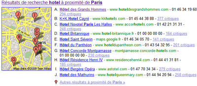 Se positionner en 1er sur hotel paris gravir les for Liste des hotels a paris